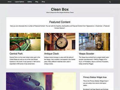 Clean Box - betaalbare websites