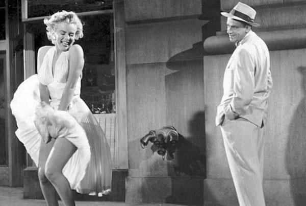 De opwaaiende jurk van Marilyn Monroe